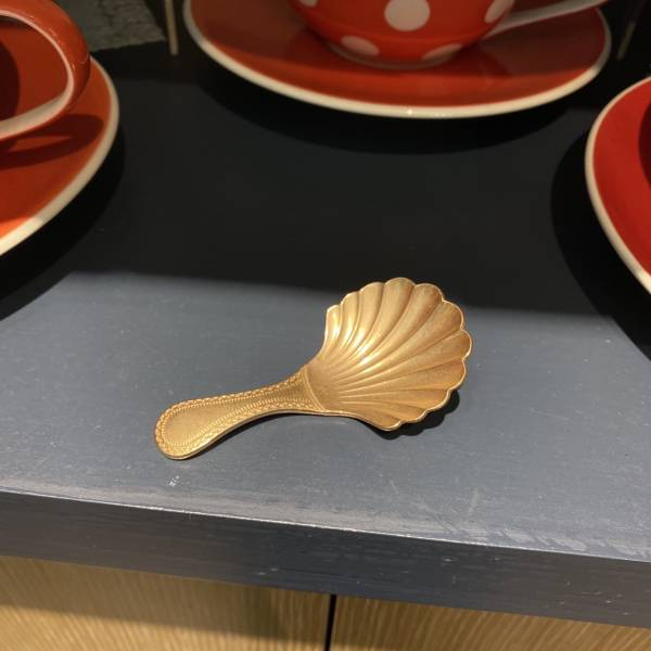 貝殼茶勺(金)
