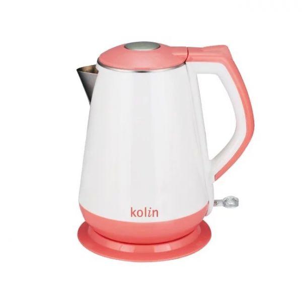 【歌林 Kolin】1.5L雙層防燙 不鏽鋼快煮壺