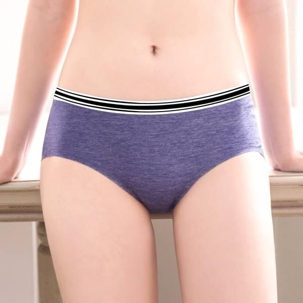 TJP 時尚條紋透氣無痕蠶絲內褲5件組(豆沙/可可/黑/灰/藍)