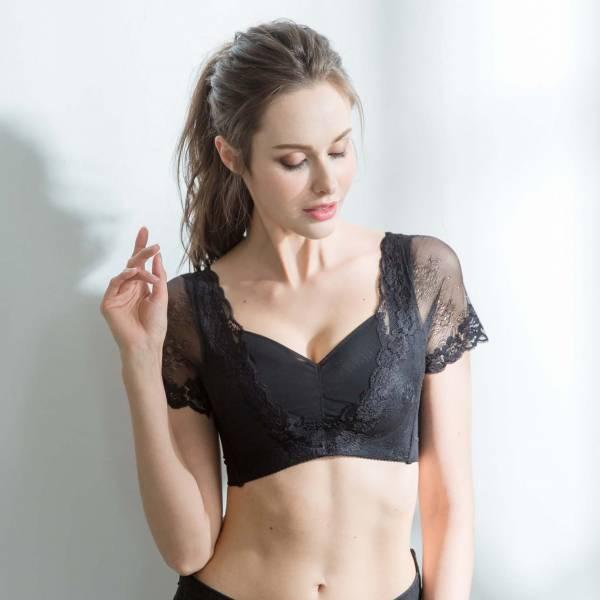TJP浪漫蕾絲內衣-黑色 無鋼圈內衣,蕾絲內衣,胸罩TJP bra