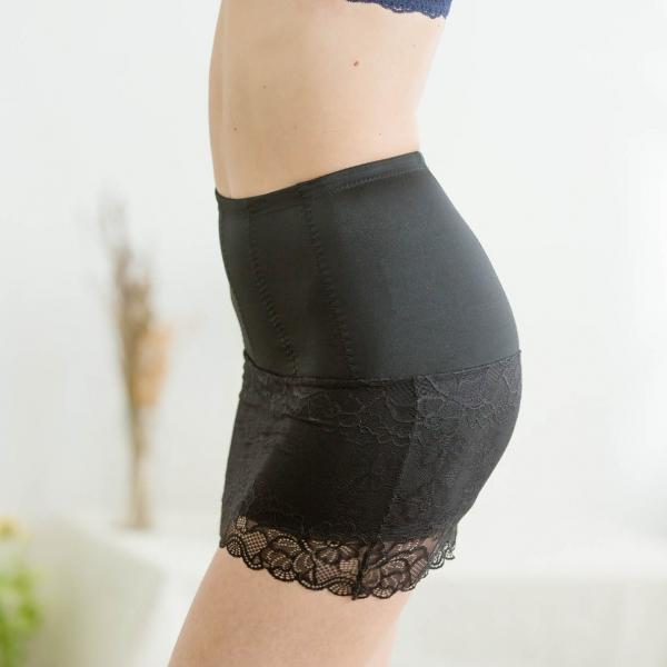 TJP 蠶絲束腹機能安全褲裙(黑)