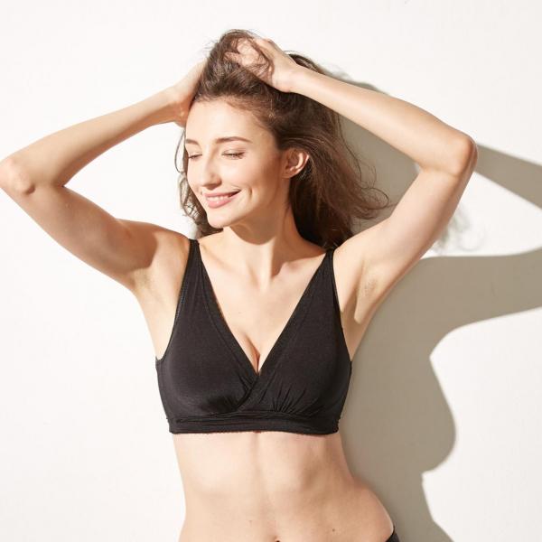 TJP日本熱銷創新扭力無鋼圈美乳內衣-黑色 無鋼圈,舒適,爆乳集中, TJP bra