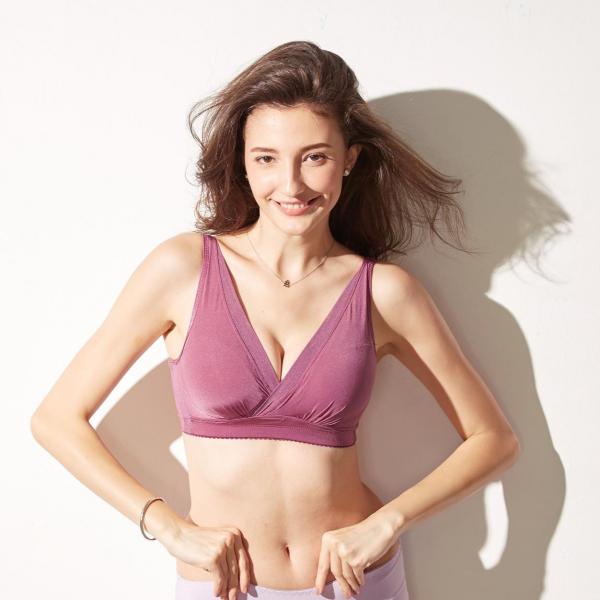 TJP日本熱銷創新扭力無鋼圈美乳內衣-紫色 無鋼圈,舒適,爆乳集中, TJP bra