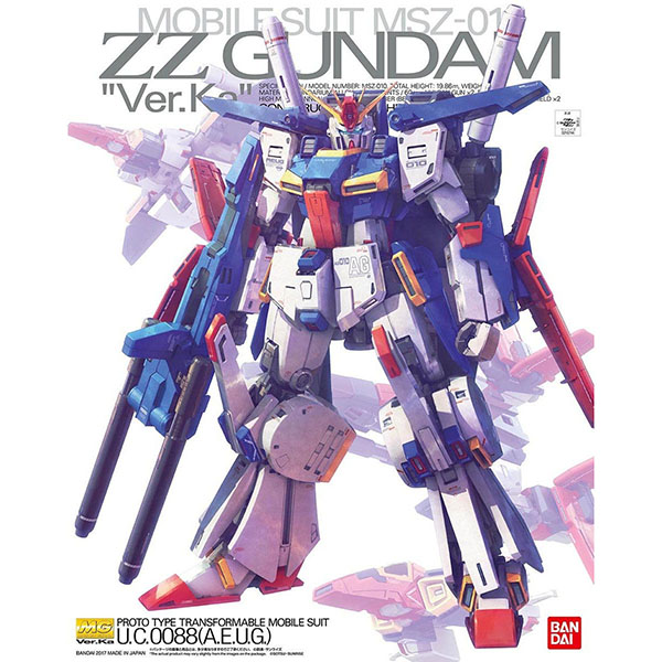 BANDAI 萬代 | MG 1/100 ZZ鋼彈 | Ver.Ka 組裝模型