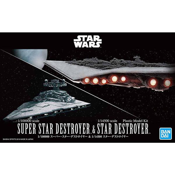 BANDAI 萬代   SW 星際大戰   1/100000 超級滅星者 & 1/14500 滅星者   組裝模型