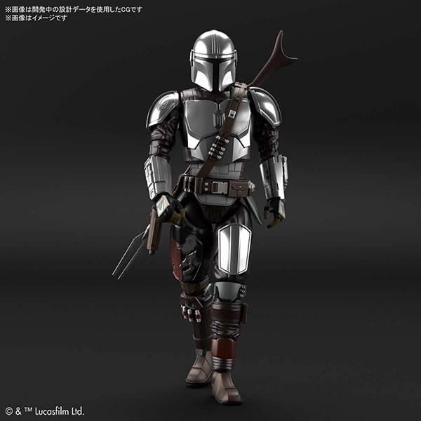 BANDAI 萬代   1/12 星際大戰 《曼達洛人》 曼達洛人 (貝斯卡金屬武裝) 銀色電鍍Ver. 組裝模型 (預訂2021年7月)