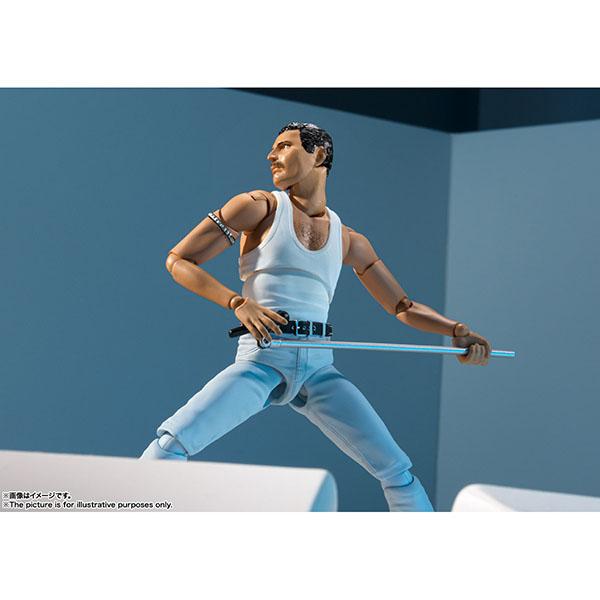 BANDAI 萬代   代理版   S.H.Figuarts SHF 皇后樂團   Queen   佛萊迪‧墨裘瑞   Freddie Mercury 「拯救生命演唱會」造型 (預訂2020年3月)