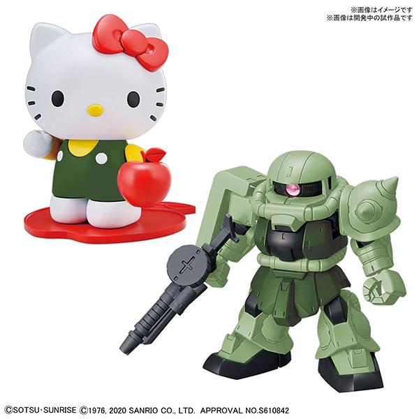 BANDAI 萬代   HELLO KITTY/薩克Ⅱ[SD鋼彈 CROSS SILHOUETTE] 組裝模型