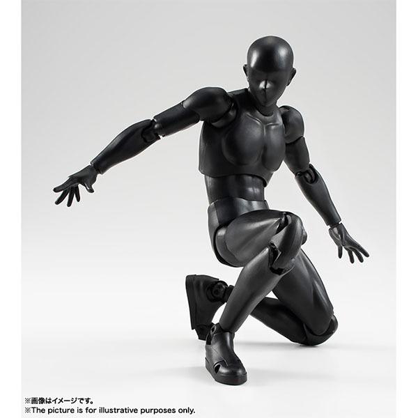 BANDAI 萬代 | 代理版 S.H.Figuarts SHF 男素體 | 純黑版