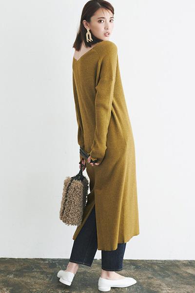 針織連身裙 Knitted Dress 毛衣洋裝送洗