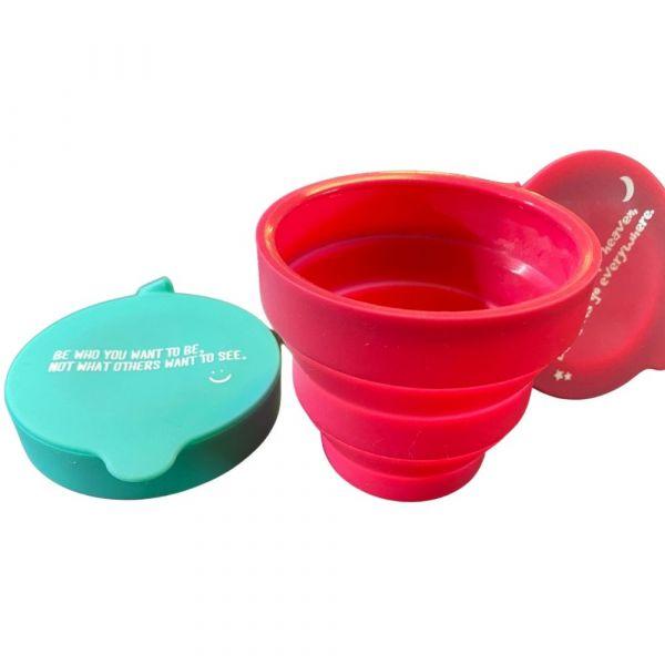 矽膠折疊水杯(顏色隨機)