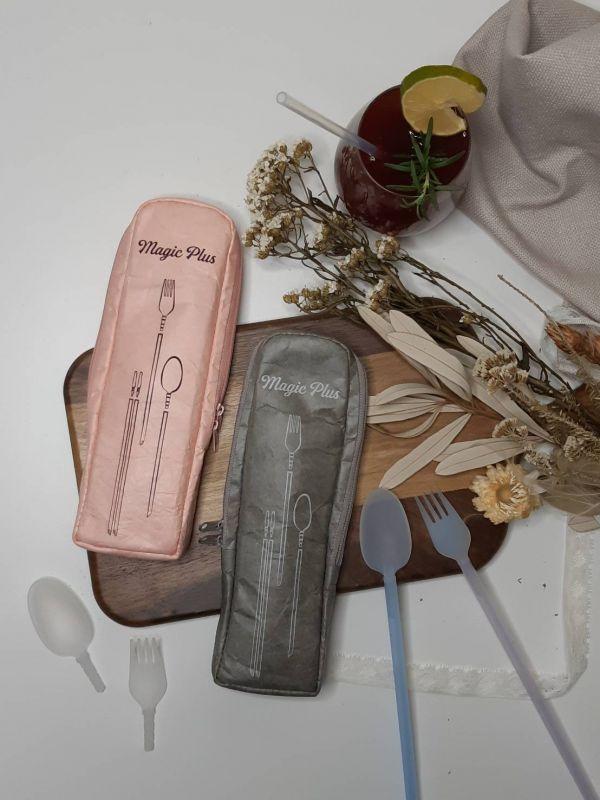 【SGS認證│生醫級環保吸管】美吉環保餐具 • 叉匙組 環保吸管,一次性塑膠吸管,一次性吸管