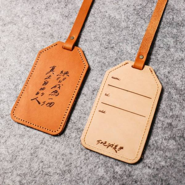Leather suitcase tag suitcase tag
