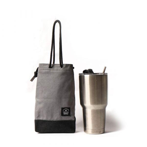 簡約飲料提袋 可刻字 水泥灰  交換禮物,帆布包,帆布袋,手提包,手提袋,禮物,禮品,購物袋,飲料提袋,飲料袋