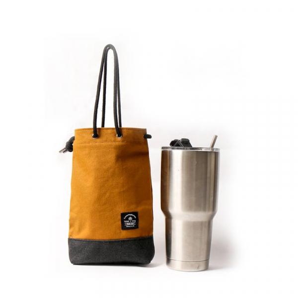 簡約飲料提袋|可刻字|芥末黃 交換禮物,帆布包,帆布袋,手提包,手提袋,禮物,禮品,購物袋,飲料提袋,飲料袋