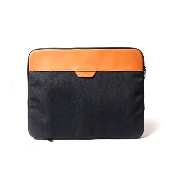 簡約真皮13吋電腦包 深藍 電腦包 筆電包