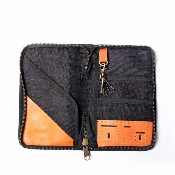 二代真皮個性飛行護照匣 護照夾 附贈禮盒包裝 單寧藍 真皮護照匣