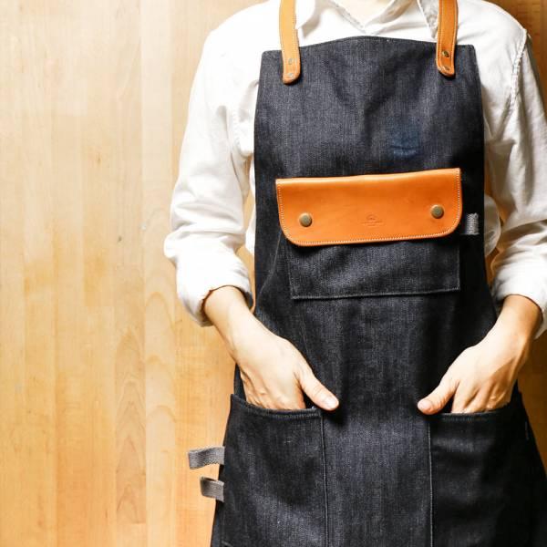 皮革全身式工作圍裙(經典脖掛式)  棕色皮革全身式工作围裙(脖围式) 门市保固