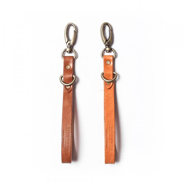 Handcrafted Leather Key leash, Classic  Italian handmade leather key ring