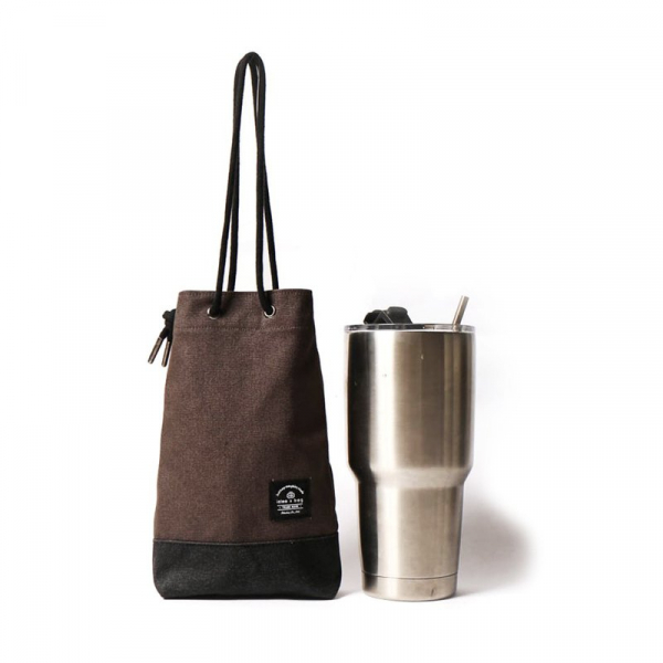 點子包【icleaXbag】飲料提袋 簡約飲料隨行袋  可刻字 深灰 飲料提袋 簡約飲料隨行袋