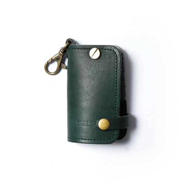 真皮汽車鑰匙包 / 綠色 真皮汽車鑰匙包
