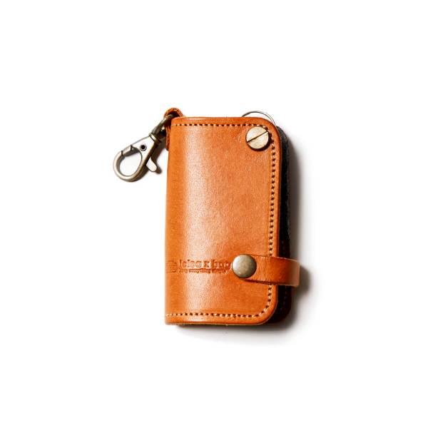真皮汽車鑰匙包 / 棕色  真皮汽車鑰匙包