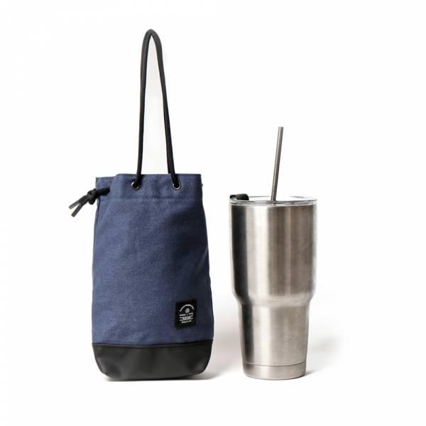 飲料提袋 簡約飲料隨行袋  可刻字 藏藍色