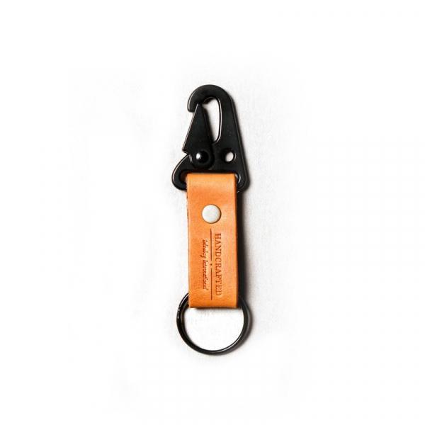點子包【icleaXbag】戶外手工牛皮鑰匙圈 焦糖棕色 牛皮鑰匙圈