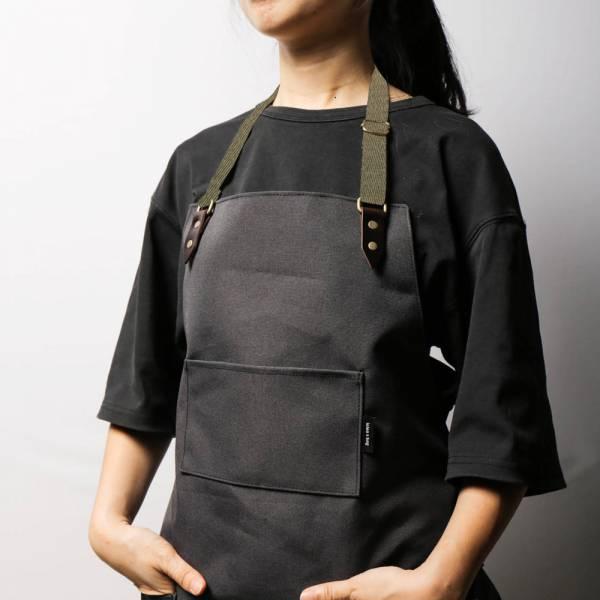 全身式工作圍裙|綠色織帶脖掛式 圍裙