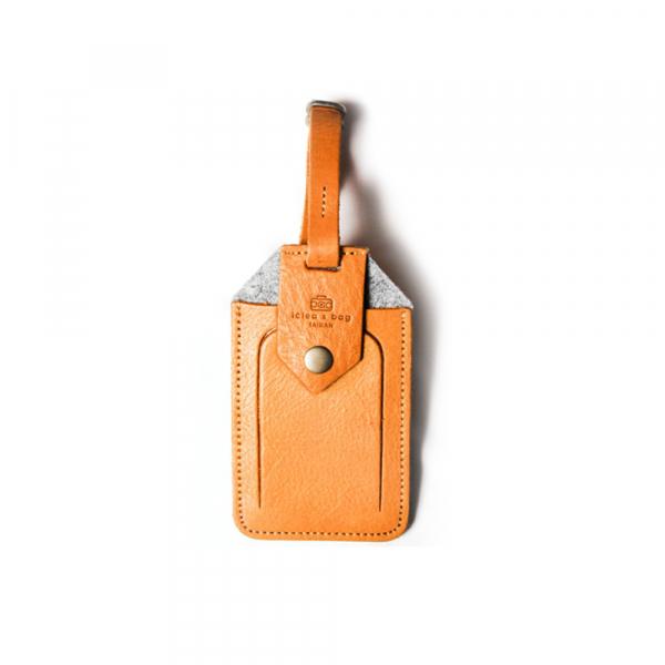 进口皮革行李吊牌 可客制刻字 综色 皮革行李吊牌