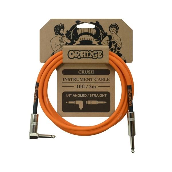 Orange CA035 CRUSH系列 3公尺 樂器專用導線 一直一L頭【吉他/貝斯/鍵盤/KEYBOARD/電子鼓適用】