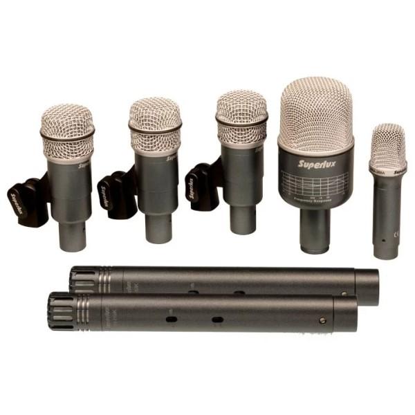 Superlux DRKB5C2MKII 錄音級鼓組收音麥克風 7支套裝 電容式+動圈式【PRO218A / PRO228A / PRO268B / PRA288A】