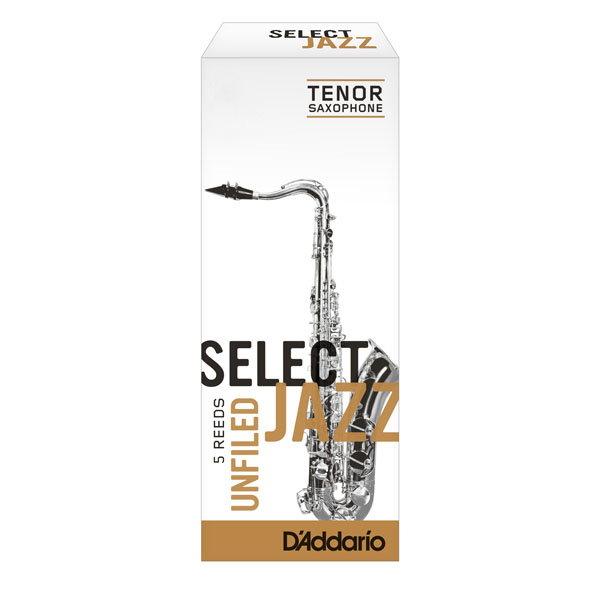 美國 Daddario Select Jazz 次中音 薩克斯風竹片 2 Medium Tenor Sax (5片/盒) Unfilde Cut 美式切法【RICO】