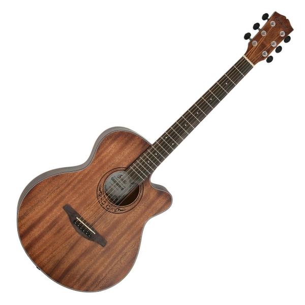 Comet C101M 40吋 全桃花心木 切角民謠吉他 附贈Pickx2、移調夾、背帶、吉他袋【木吉他/自彈自唱必備/C-101M】 全桃花心木 切角民謠吉他