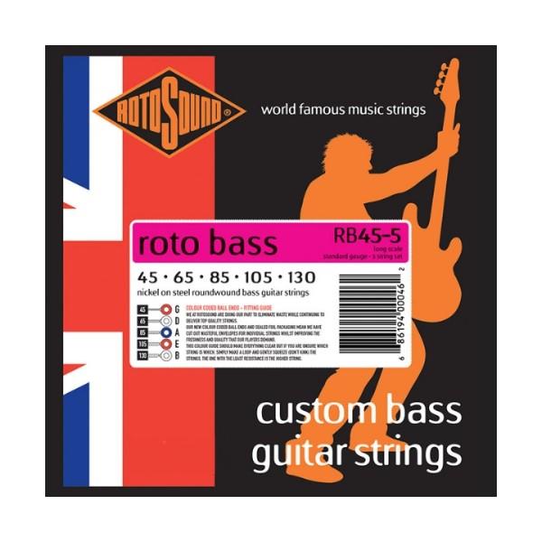 ROTOSOUND RB45-5 5弦電貝斯弦 (45-130)【英國製/BASS弦/RB-45-5】