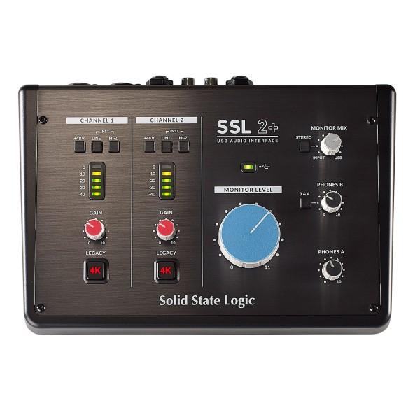 Solid State Logic SSL2+ USB 2.0 錄音介面 24-bit / 192 kHz【SSL2 PLUS/2進4出】