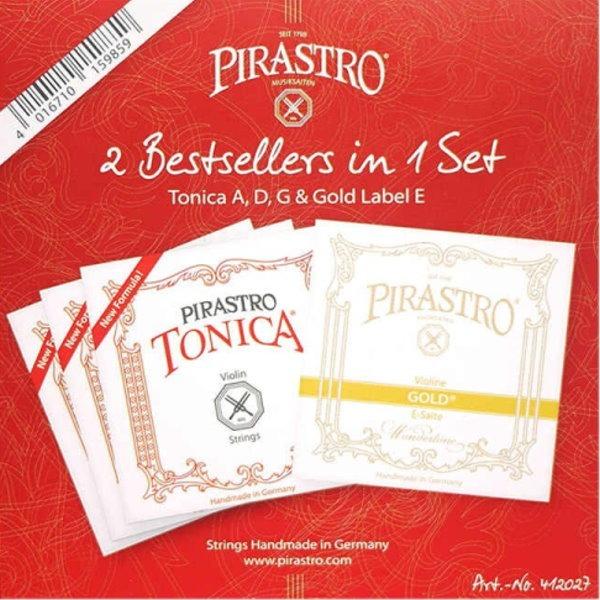 小提琴弦 Pirastro Tonica 412027 小提琴套弦 4/4 專用 提琴弦 尼龍弦 Gold Label E / E弦 金色標籤 小提琴弦,提琴弦