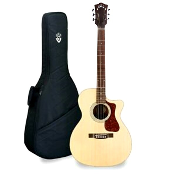Guild 美國經典吉他品牌 Guild OM-240CE 可插電 OM琴身/切角 雲杉面單板 / 桃花心木側背板 附 Guild 吉他袋 (厚袋) OM240CE 台灣公司貨 OM-240cE,om240ce,guild,GUILD吉他,