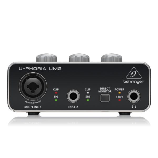 Behringer 耳朵牌 UM2 USB錄音介面 2進2出 內建麥克風前級 原廠公司貨 一年保固 Behringer 耳朵牌 UM2 USB錄音介面 2進2出
