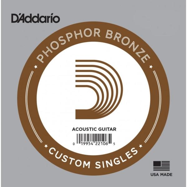 Daddario PB024 單弦 磷青銅民謠吉他弦 (.024) 單一弦【木吉他弦】