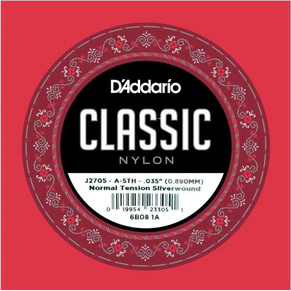 Daddario J2705 單弦第五弦 標準張力古典吉他弦 單一弦【第5弦/A弦】