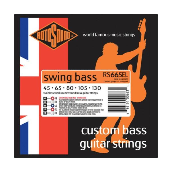 ROTOSOUND RS665EL 5弦電貝斯弦 Extra Long (45-130)【英國製/BASS弦/RS-665-EL】