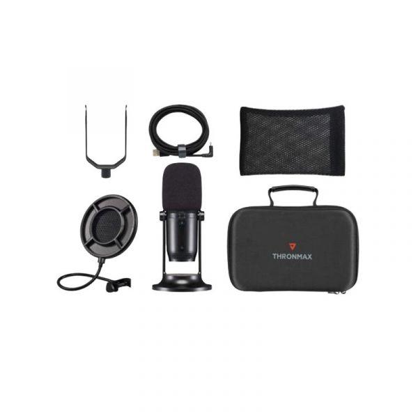 Thronmax Mdrill One Kit USB電容式麥克風/套組【取樣率48kHz 16bits/USB連接/無驅動隨插即用】