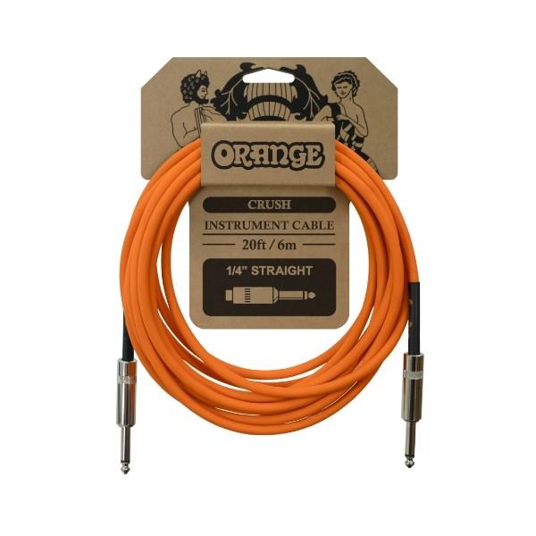 Orange CA036 CRUSH系列 6公尺 樂器專用導線 雙直頭【吉他/貝斯/鍵盤/KEYBOARD/電子鼓適用】