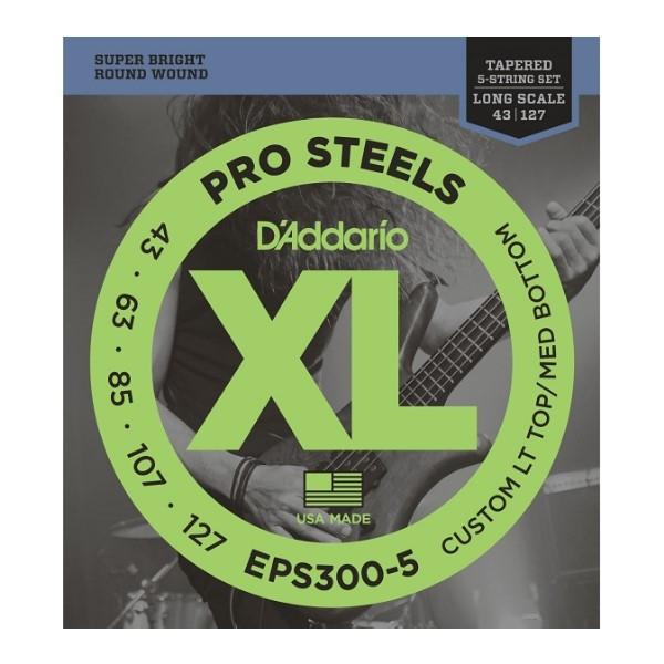 美國 DAddario EPS300-5 5弦電貝斯弦 (43-127)【Bass弦專賣店】
