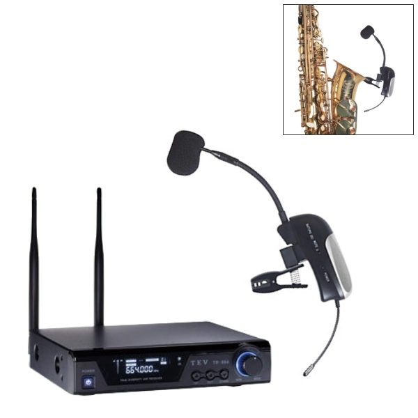 TEV 薩克斯風專用無線麥克風 套裝組(TX-364 專用無線麥克風 + TR-864 無線接收機)Sax麥克風【TR864】
