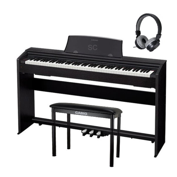 Casio PX-770 滑蓋式 電鋼琴 88鍵 黑色 / 含原廠腳架 / 三音踏板 / 琴椅 台灣卡西歐公司貨 贈送耳機 PX770 PX-770,px770,casio px770,casio px-770