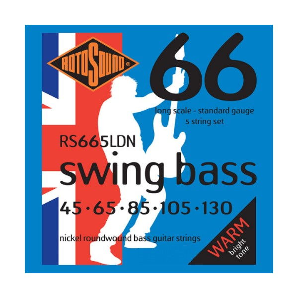 ROTOSOUND RS665LDN 5弦電貝斯弦 (45-130)【英國製/BASS弦/RS-665-LDN】