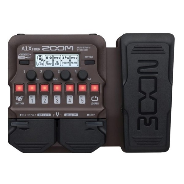 ZOOM A1X FOUR 綜合效果器 表情踏板款 內附MAA-1麥克風放大器 原廠公司貨 一年保固【適用民謠吉他/ 薩克斯管/ 小號/ 小提琴/ 口琴】