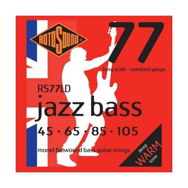 ROTOSOUND RS77LD 電貝斯弦 平滑纏繞 (45-105)【英國製/BASS弦/RS-77-LD】